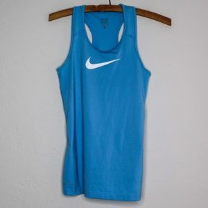 Nike Pro Blue Dri Fit Workout Fitness Tank Top M
